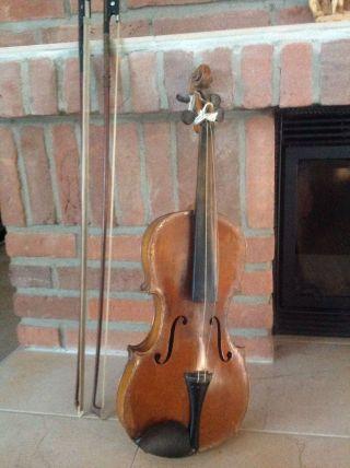 Alte Geige Für Restauration Bild