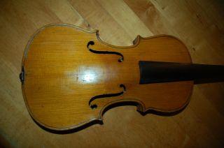 Alte Geige Ca.  59 Cm Mit Zettel Für Bastler Bild
