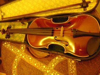 Alte 3/4 Geige,  Klingenthal,  Gt. Bild