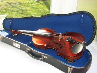 4/4 Geige Generalüberarbeitet Antonius Stradivarius Markneukirchen Um 1900 Bild