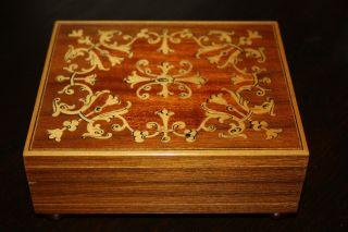 Wunderschöne Alte Walzen Spieluhr Von Reuge Sammlerstück Bild
