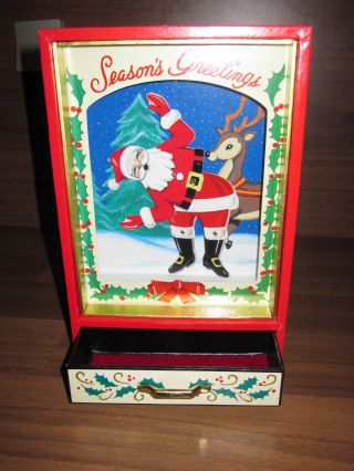 Ikecho Musical Box / Jingle Bells / Season ' S Greetings / Spieluhr Weihnachtsmann Bild