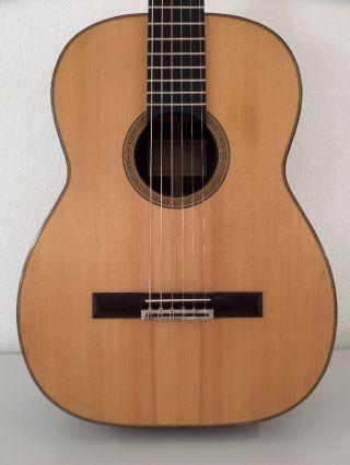 Helmut Hanika Alte Konzertgitarre Old Classical Guitar Gitarre Vintage Antique Bild