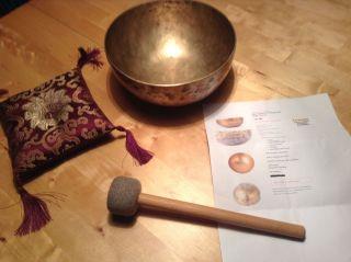 Alte Tibetische Klangschale 860g Uranus Bild