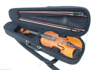 Ältere 4/4 Violine,  Geige Mit Koffer Und Zwei Streichbögen Bild