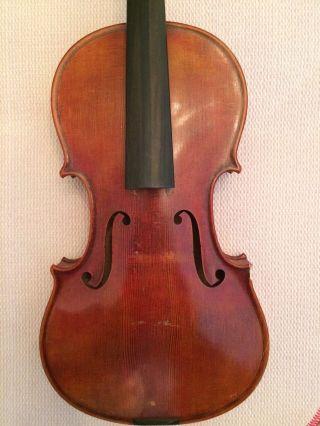 Alte Geige Violine Mit Brandstempel Bild