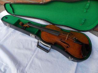 Alte Geige/ Violine Mit Zettel,  Amati,  Joh.  Bapt.  Schweitzer Bild