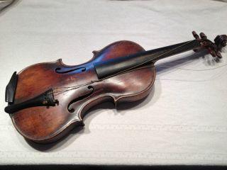 Antike Geige Zum Restaurieren - Georg Gertig Liesa I.  P.  1907 Bild