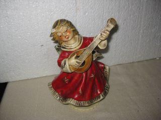 Goebel Spieluhr Roter Engel Mit Mandoline Hx 347 Stille Nacht Goebel Engel Samml Bild