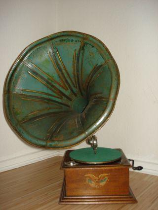 Grammophon,  Trichtergrammophon