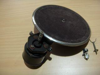 Grammophon - Laufwerk Mit Elektromotor Und Plattenteller,  Dr.  Max Levy Berlin Bild