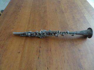 Historische Klarinette (b) Metall Aus Privater Sammlung Bild