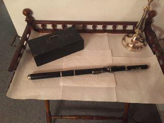 Sehr Alte Querflöte Blasinstrument Musikinstrument Flöte Bild