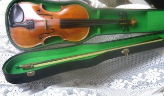 Violin A.  Lutz Wien Um 1880 Violine Geige 4/4 Mit Bogen Und Geigenkoffer Bild