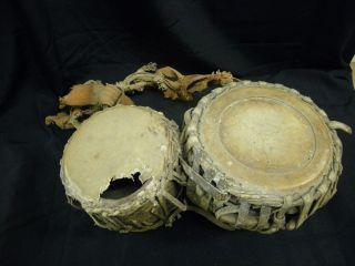 Doppel - Trommel Alt Indien Bild