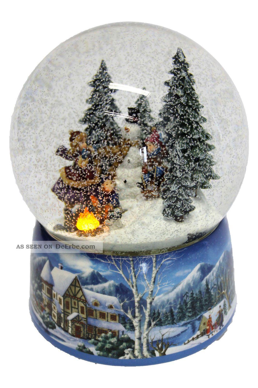 riesen schneekugel xxl schlittenfahrt selbst schneiend. Black Bedroom Furniture Sets. Home Design Ideas