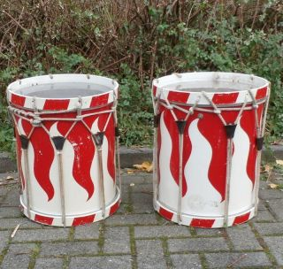 Marschtrommel Trommel 2 Stück Etwa 40 Jahre Alt Bild