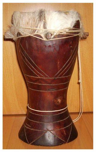 Alte Trommel Djembe Bongo Aus Dem Senegal - über 40 Jahre Alt - Topp Bild