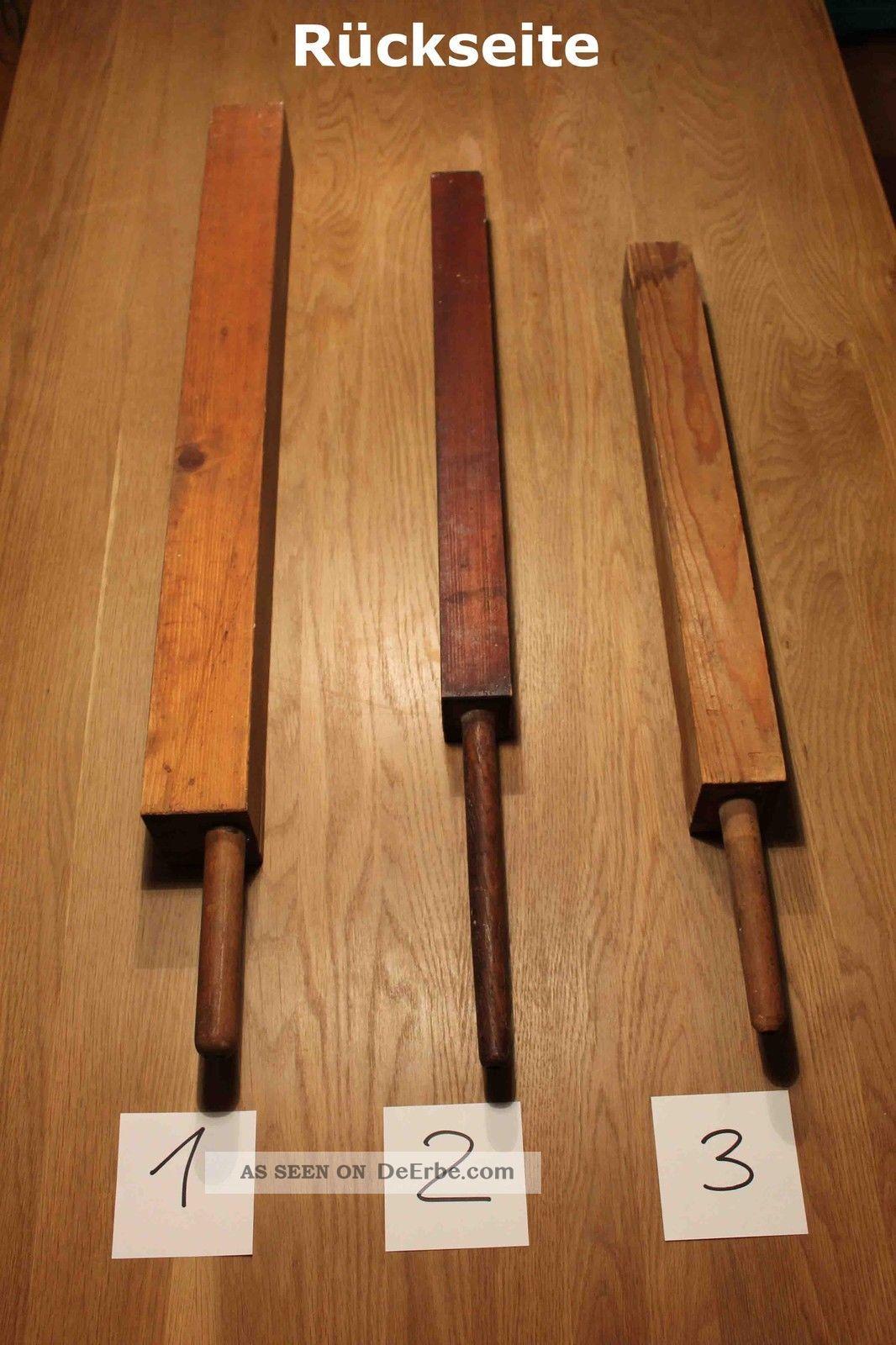 3 alte orgelpfeifen aus holz orgelpfeife antik orgel register kirchenmusik. Black Bedroom Furniture Sets. Home Design Ideas