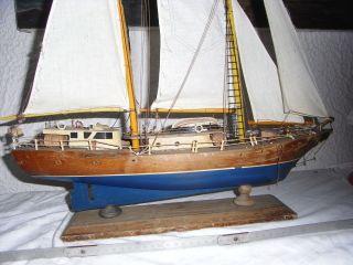 Altes Schiffsmodell,  Segelschiff Schiff Segelboot Bootsmodell Bild