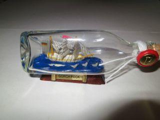 Gorch Fock Flasche Flaschenpost Schiff In Flasche Werbung Bild