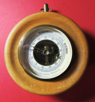 Dosenbarometer Von A.  Silo,  Hof - Optiker,  Flensburg,  Ca.  100 Jahre Bild