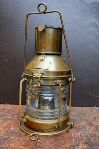 Messing - Schiffslampe,  Ankerlaterne,  Ankerlicht,  Messinglampe,  Schiffslaterne Bild