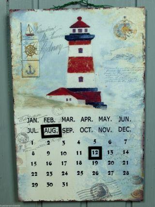 Maritimer Magnet Metall Dauerkalender