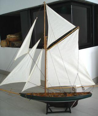 Luxus Modell Bootsyacht Segelboot Segelyacht Maritim Boote Schiff Meer Bild