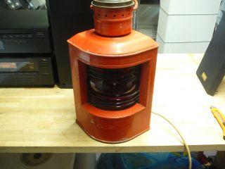 Schiffs Posizionsleuchte Elektrifiziert Vintage Rot Bild