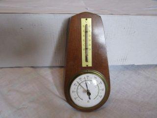 Altes Barometer,  Thermometer (wetterstation) Eiche Mittel Dänemark Nr.  1288 Bild