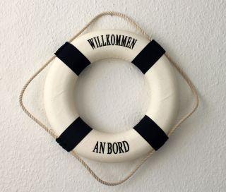 Deko Rettungsring Blau/weiss Willkommen An Bord 35cm 8835 Dekoration Bild
