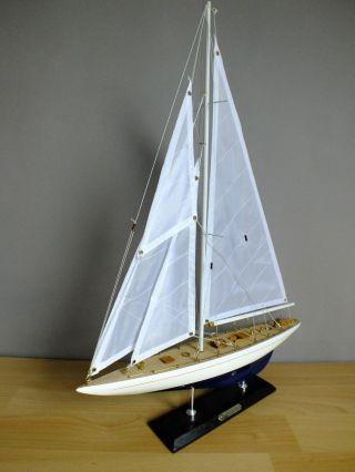 Segel - Yacht Enterprise,  40 X 6 X 54 Cm,  Standmodell Aus Holz,  Segelschiff Bild