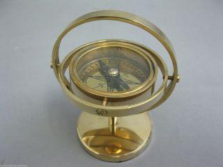 Messing Kompass Standkompass Kompass 9cm Bild