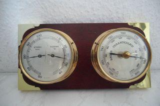 Sehr Dekorative Wetterstation_maritimes Design_barometer,  Thermometer,  Hygrometer Bild