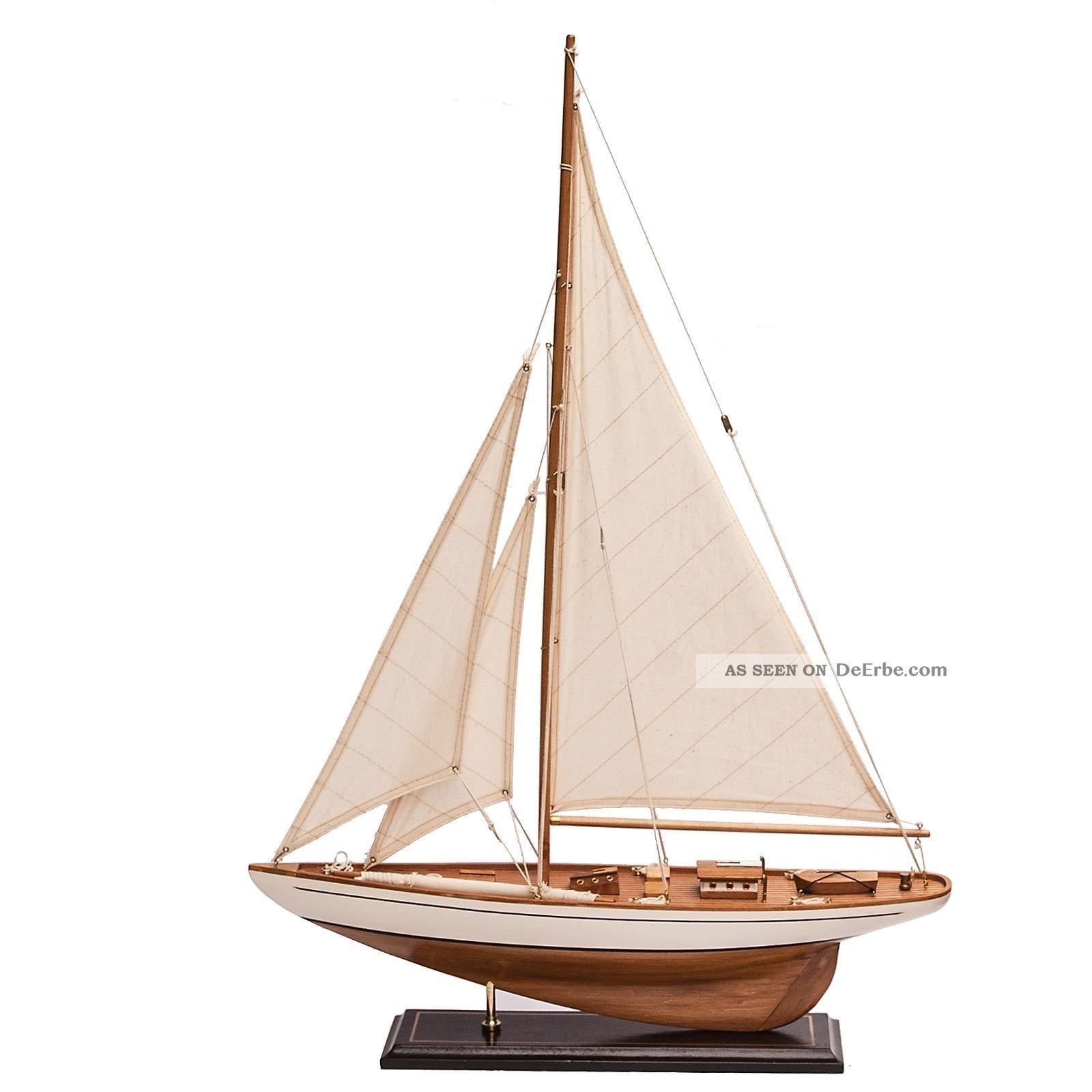 Segelboot Segelschiff Segelyacht Holz Wei Deko
