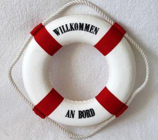 Deko Rettungsring Ø 25cm Rot - Weiß Willkommen An Bord Bild