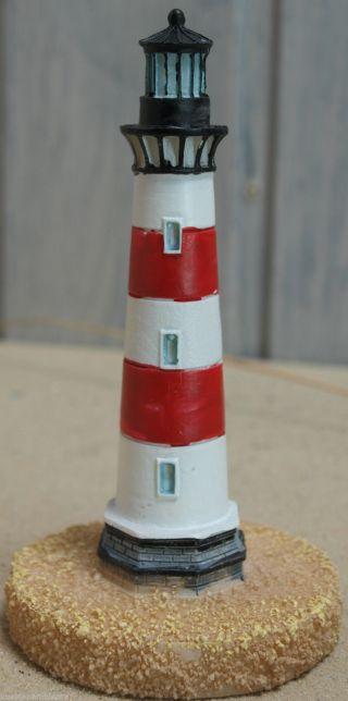 Kleiner Poly Leuchtturm Rot/weiß Höhe Ca.  8,  5cm Für Die Maritime Dekoration Bild