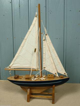 Yacht Segelschiff Boot Aus Holz Ca.  33x25x6cm Für Die Maritime Deko (5046) Bild