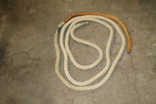 Grevinga® Vital Altes Klettertau - Seil Mit Leder Ca.  6,  45 M - Bild