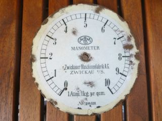 Zifferblatt/manometer/u - Boot/submarine/zwickauer Maschinenfabrik/wk1/wk2/u - 1 Bild