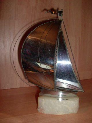 John,  Don Demott Segelschiff Skulptur Metall Onyx Design Kunst Art Maritim 70er Bild