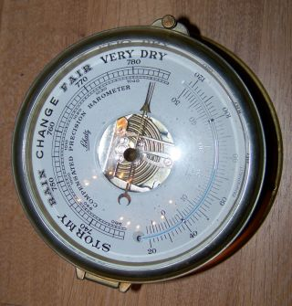 Schatz Schiffsbarometer Barometer Nautik Messing Made In Germany Celsius Bild