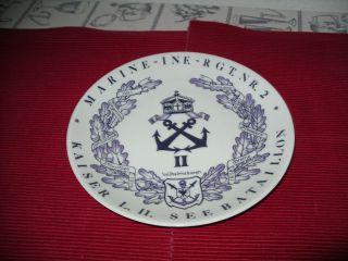 Wandteller Der Kaiserlichen Marine Bild
