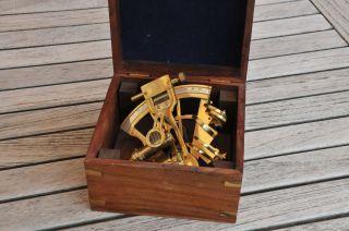 Sextant Replika Deko - Objekt Mit Holzbox Bild