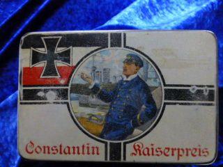 Blechdose Constantin Kaiserpreis Cigaretten Nr.  55 Mit Maritimen Motiv Bild