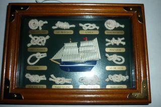 "Bilderrahmen Maritim,  ""seemannsknoten - Segelschiff"",  Seemann Knoten, Bild"