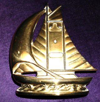 Englisches Segelschiff,  Schiff,  England Messing Bild