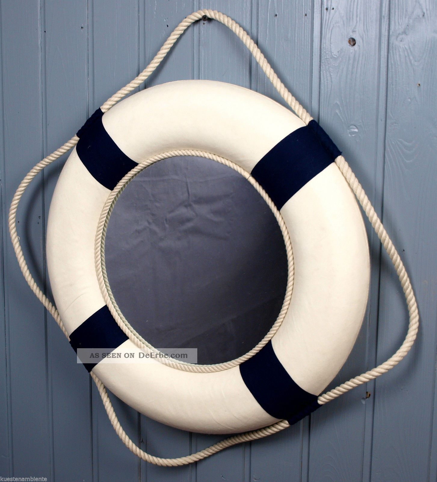 Deko rettungsring 50 cm blau wei mit spiegel wandspiegel ii wahl - Deko wandspiegel ...