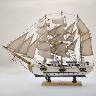 Gorch Fock Segelschiff Großsegler Holz Ca.  45cm Deko Standmodell Bild